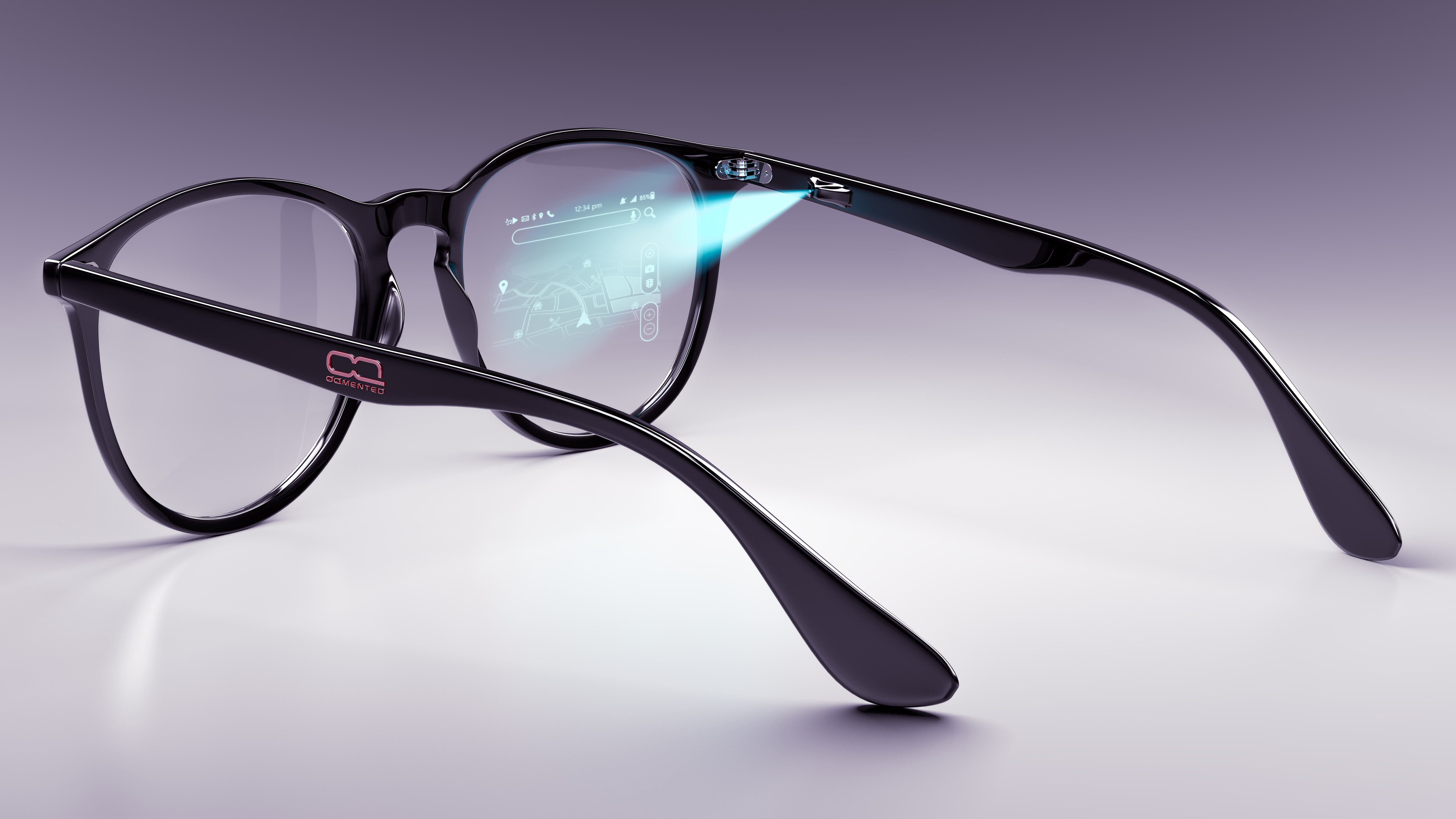 OQmented glasses with projection